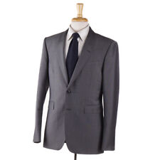 NWT $1995 BURBERRY LONDON Slim-Fit 'Sandhurst' Solid Gray Wool-Mohair Suit 38 R