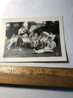 Vintage Original Photo Photograph WWII Shirtless Soldiers Sun Bathing