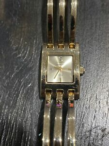 Rare LIMITED EDITION~All Gold Triple Bar Cuff Armitron DIAMOND NOW Women's Watch