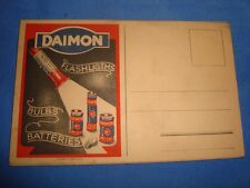 Old Vintage Daimon Batteries & Torch Advertisement Post Card from India 1940