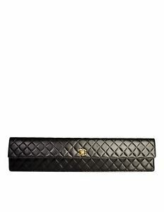 Chanel Vintage Rare AW1990 Oversized Black Matelasse Quilted Leather Purse Bag