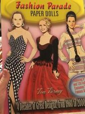 2002' Paper Dolls'' Collectors Book'' Fashion Parade''8 Dolls''120 Costumes''New