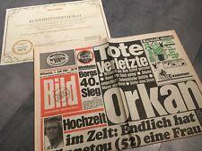 BILDzeitung 01.07.1981 Juli 1.7.1981 Geschenk 38. 39. 40. 41. 42. Geburtstag