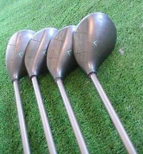 Callaway Ladies GEM Pat Pend WOODS Set 1,3,5,7 with ALDILA Ladies Flex Graphite