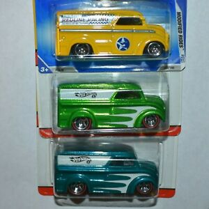 Hot Wheels Lot of 3 Dairy Delivery - Classics & Modified Rides Green Blue Yellow