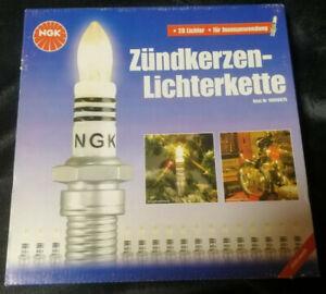 NGK Zündkerzen Lichterkette Weihnachtsbeleuchtung Christbaum 20 Kerzen Rarität
