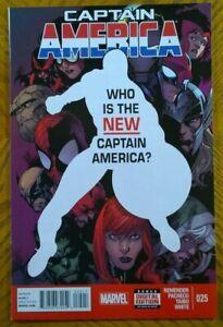 CAPTAIN AMERICA #25 (Marvel,2014) 1ST APPEARANCE SAM WILSON FALCON AS CAP in NM