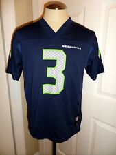 NWOT Russell Wilson Seattle Seahawks Navy NFL Jersey Shirt Youth Large 14/16