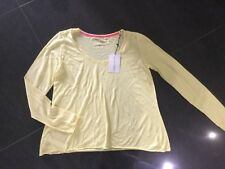 NWT Brigitte Bardot New & Gen. Ladies Medium UK Size 12 Yellow Long Sleeved Top
