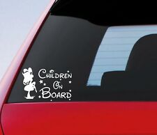 Children On Board Sticker Funny Novelty Kids Car Warning Sign Window Vinyl Decal