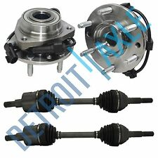 2 Left & Right CV Axle Shaft + 2 Front Wheel Hub And Bearing Envoy Trailblazer