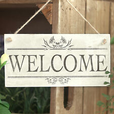 Welcome - Handmade Rustic Wooden Sign / Plaque For Entrance / Porch Home Decor