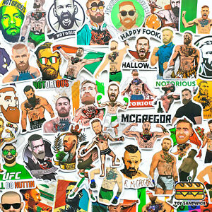 "50 pcs ""Conor McGregor"" Sticker Pack MMA Martial Art Fight UFC Champion Decals"
