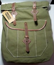 Gootium 60408  Unisex Canvas and Leather Daypack, Rucksack, Backpack, Army Green