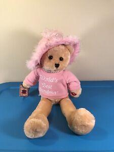 Chantilly Lane Musicals Teddy Bear Doll PBC Pearl's Grandma Pink Sings SEE VIDEO