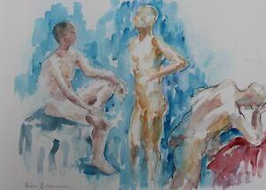 Fiona Goldbacher - Important British artist - Studies of male figures