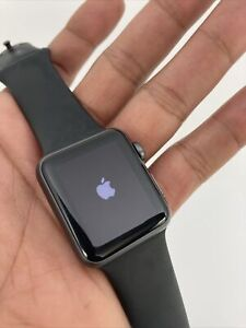 Apple Watch Series 1- 38mm, Locked Aluminum Case, ION-X GLASS 😳👀 Black Band