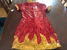 Hot devil babe Roma costume Sequin Devil Dress Size M/L Nwt Dress Only Womens
