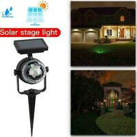 Solar LED Light Carnival Moving Color Change Spotlight Garden Light Stage C9K2