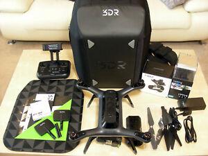 3DR Solo Smart Drone w Gimbal GoPRO Hero 4 BLACK 4K Camera & Carrying Bag Setup