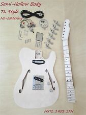 1901 2FH Semi-Hollow Body TL Style Electric Guitar DIY Kit, No-Soldering, S-S