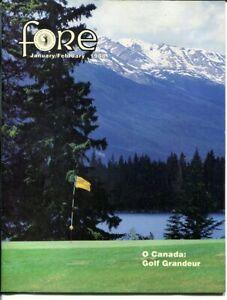 FORE MAGAZINE 1988 JANUARY-SCOTTSDALE-CANADIAN GOLF EX