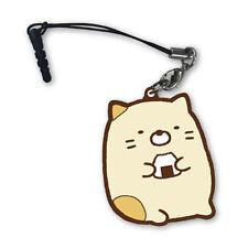 Sumikko Gurashi Neko Rubber Strap Phone Jack Charm