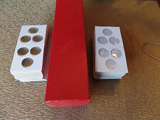 100 2x2 Cardboard 3 hole Cent Penny Dime Coin Holders Flip 1- 2x2x9 Storage Box