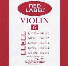 Super Sensitive 2143 Violin G Stg Super Sens 1/4