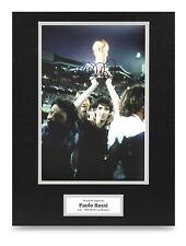Paolo Rossi Signed 16x12 Photo Display Italy 1982 Autograph Memorabilia + COA