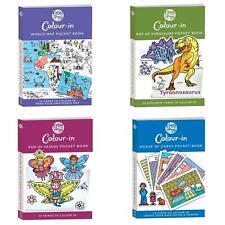 Colour - in Eggnogg Postcard Pocket Book Pop Up House Dino Fairies World Map