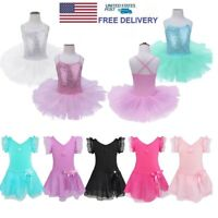 Toddler Girl Ballerina Costume Tutu Skirt Ballet Dancewear Gym Leotard Dress
