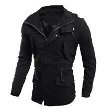 Fashion Men's Military Casual Jacket Warm Winter Coat Slim Fit Outwear Overcoat