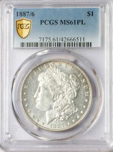 1887/6 $1 PCGS MS61PL