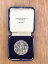 More details for 1935 silver crown boxed prince of wales royal visit july 24th 1935