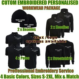 Personalised Embroidered Work Wear Package Builders Technicians Worker Uniforms