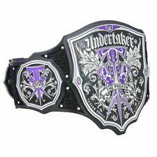 WWE Undertaker The Phenom Wrestling Champion Belts Replica Plates Leather Adults