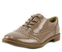 Franco Sarto Imagine Women Taupe Patent Leather Wingtip Lace Up Oxfords Size 6.5