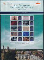 GB QE2 SMILERS SHEET 2009 800th Anniversary of Cambridge UMNH **