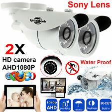 2x HD CCTV Camera Bullet 1080P AHD TVI IR Night Vision Outdoor Security System !