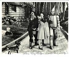 """RAY BOLGER """"SCARECROW"""" (DECEASED) WIZARD OF OZ SIGNED 8X10 INSCRIBED JSA #54949"""
