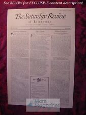 SATURDAY REVIEW August 8 1931 Storm Jameson Stuart Chase Alexander M Witherspoon