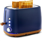 Kichele Toaster 2 Slice Toasters Retro Stainless Steel With Extra Wide Slot,