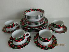 Mary Engelbreit Dishes (Cherries) 20 Pcs (Retired & Rare)