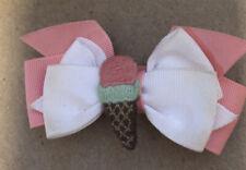 Used Girls Janie & Jack Ice Cream Social Hair Clip Barrette Cone One Sz 2 3 4 5