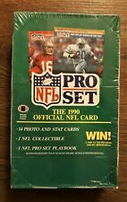 NFL Pro Set 1990 (Series 1) Sealed Wax Box - 36 Packs of Trading Cards