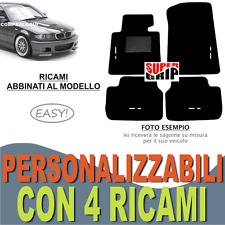 TAPPETINI AUTO SU MISURA PER BMW SERIE 3 E46 MOQUETTE E GOMMA + 4 RICAMI EASY
