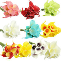 6 Artificial Touch Calla Lily Fake Flower Wedding Party Home Decor Bouquet Gift