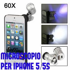 Mini 60X microscopio digitale ingrandimento per Apple iPhone 5/5S