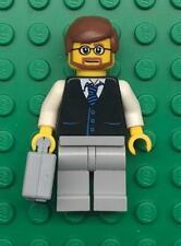 Lego Glasses Businessman Minifig: figure lot town city lawyer black suit vest